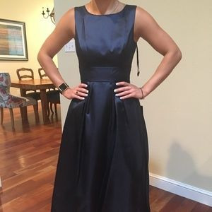 Size 14 Alfred Sung Midnight Blue gown